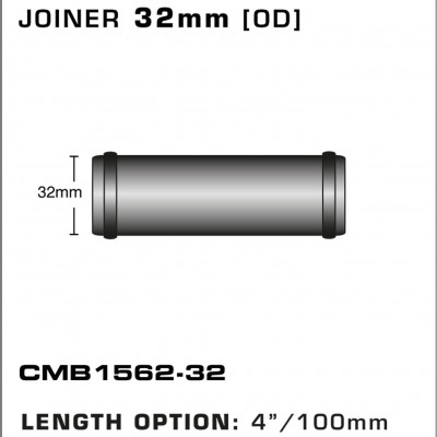 CMB1562-32-T-PIECE-JOINER-32mm-[OD]-x-4INCH-[100mm]