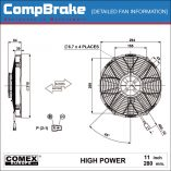 CMB-[0153HP]-COOLING-FAN-[HIGH-POWER]-COMEX-SUCTION-11'-(280MM)-DIAGRAM