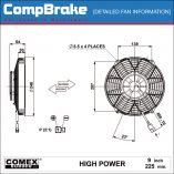 CMB-[0610HP]-COOLING-FAN-[HIGH-POWER]-COMEX-BLOWING-9'-(225MM)-DIAGRAM