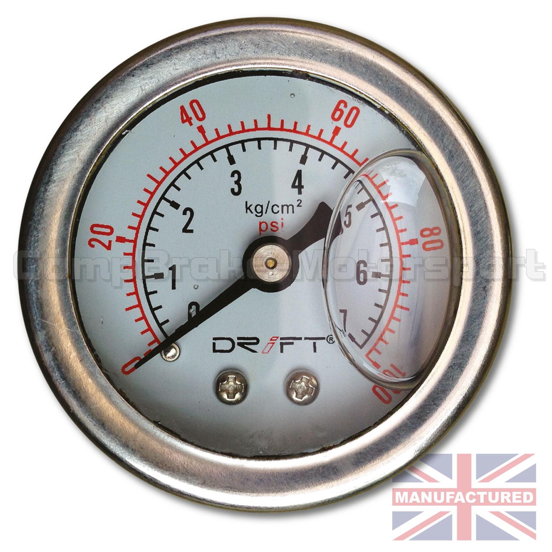 Drift fuel pressure gauge liquid filled psi ideal for