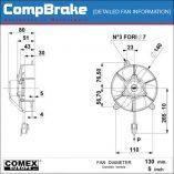 CMB-[F09-12C003-01B]-COOLING-FAN-[MOTORBIKE]-BLOWING-COMEX-5'-(130MM)-DIAGRAM