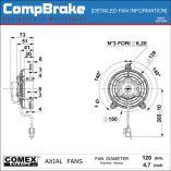CMB-[F33-12C004-07B]-COOLING-FAN-[MOTORBIKE]-BLOWING-COMEX-4.7'-(120MM)-DIAGRAM