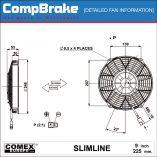 CMB-[FAN-0127]-COOLING-FAN-[SLIMLINE]-BLOWING-COMEX-9'-(225MM)-DIAGRAM