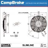 CMB-[FAN-0221]-COOLING-FAN-[SLIMLINE]-BLOWING-COMEX-10'-(255MM)-DIAGRAM