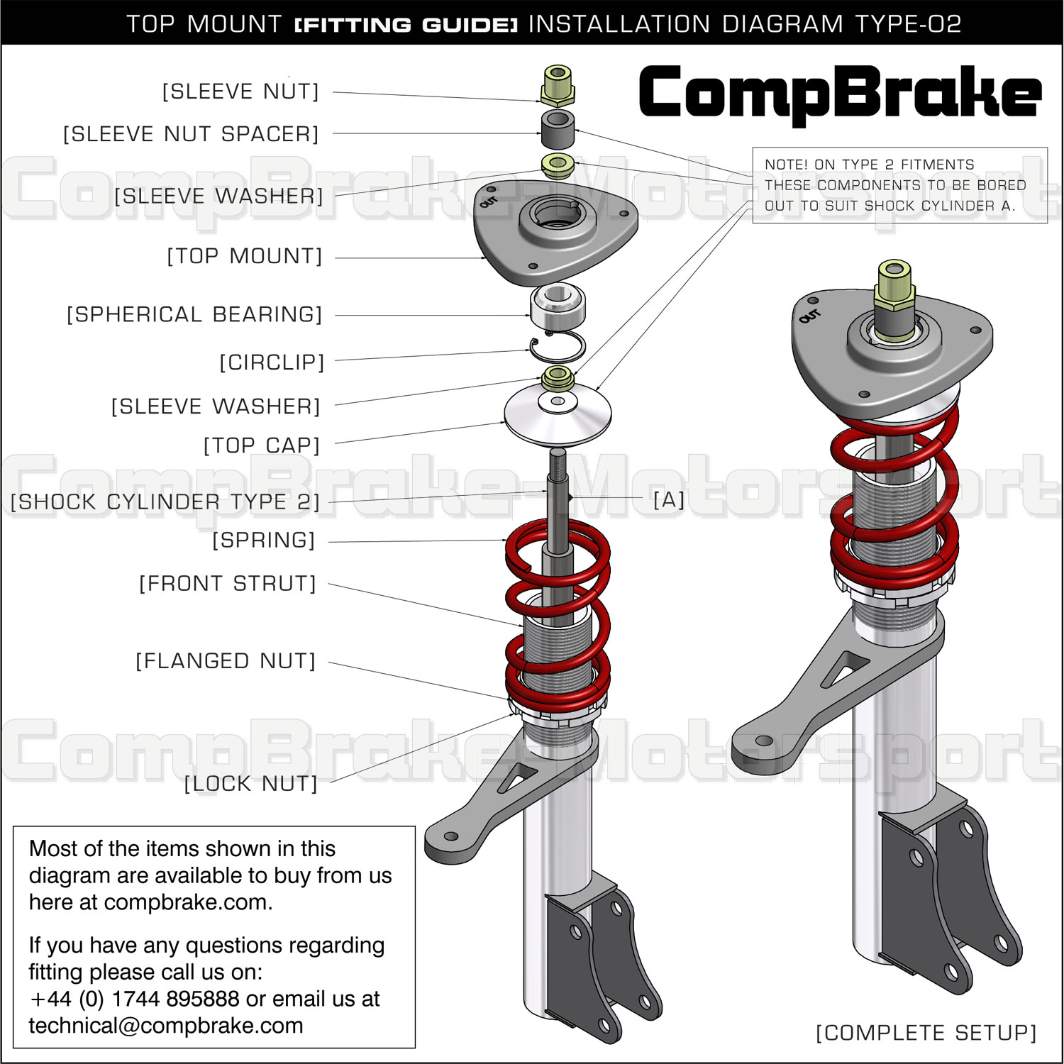 Ford Fiesta Mk4/5 Front Fixed Suspension Top Mount (PAIR) - Ford, Fiesta,  Top Mounts - www.compbrake.com
