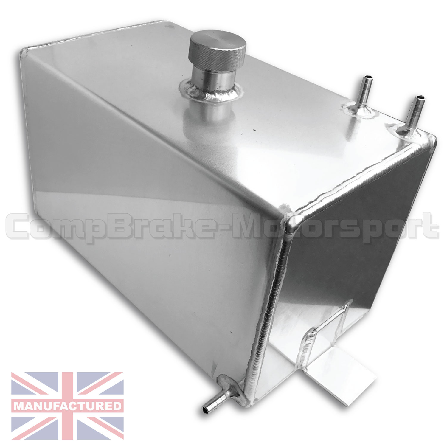 2 Gallon 11 7 Ltr Baffled Aluminium Fuel Tank Single