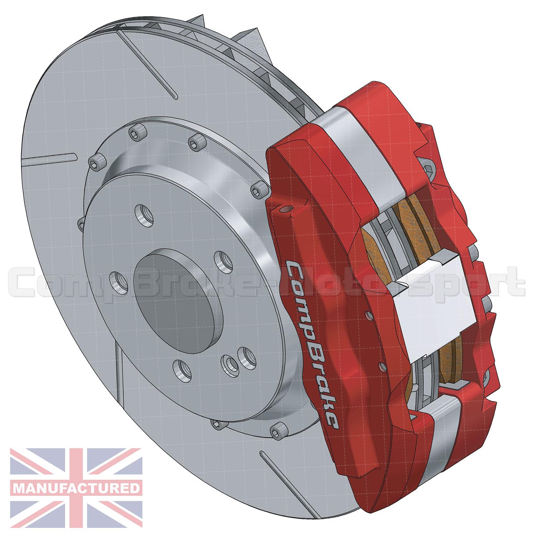 Bmw E30 Rear 17 Brake Kit 6 Pot Calipers Pro Race 11 330mm X Rover Brakes Diagram 28mm Rotors Discs 5 Stud Kits Compbrake